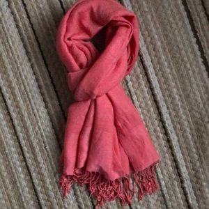 Coral Scarf with fringe
